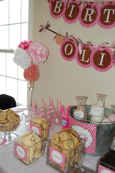 Display the cookies in clear glass vases and jars.