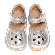 US toddler size Runs true to size. Squeaky Shoes, Flats, Sandals, Crocs, Mary Janes, Silver, Infant, Southern, June