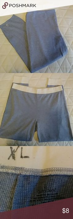 Cuddl Duds Long Johns Like new...no clue why they are marked XL with a market but it doesn't show on the other side of waist band. Pretty blue color. 50% cotton 40% poly Cuddl Duds Pants Leggings