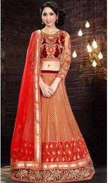 Orange Color Net A Line Style Party Wear Lehenga Choli | FH479374008 #heenastyle, #designer, #lehengas, #choli, #collection, #women, #online, #wedding , #Bollywood, #stylish, #indian, #party, #ghagra, #casual, #sangeet, #mehendi, #navratri, #fashion, #boutique, #mode, #henna, #wedding, #fashion-week, #ceremony, #receptions, #ring , #dupatta , #chunni , @heenastyle , #Circular , #engagement
