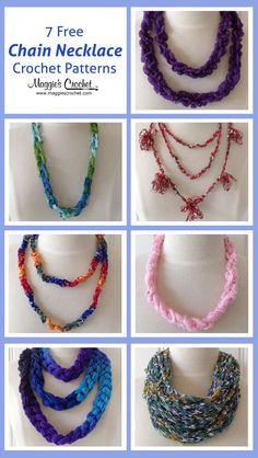 7 Free Chain Necklace Crochet Patterns from Maggie's Crochet