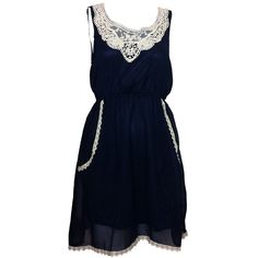 Fab.com | Crochet Lace Dress Blue