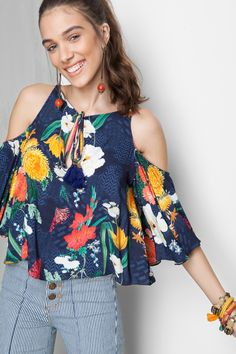 blusa estampada jasmim | Dress to