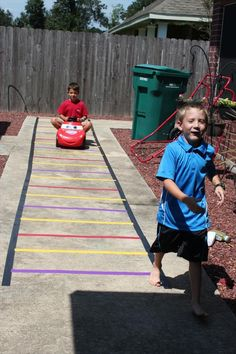 Kids Train Track with Duct Tape | 101 Duct Tape Crafts Please follow us @ http://www.pinterest.com/ducktapesale/