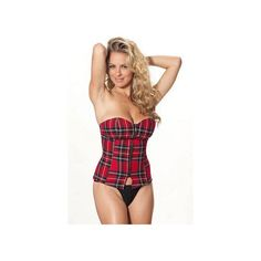 Shirley of Hollywood Sexy Showtime Plaid Corset SS111SH Plaid Print #ShirleyofHollywood
