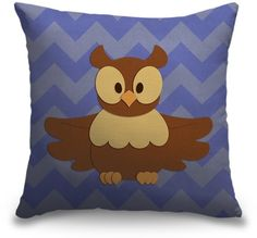 This baby owl woodland creature throw pillow is sure to add adorable touch to your nursery room decor. Buy now at CanvasOnDemand.com.
