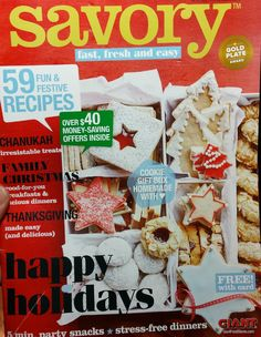 Savory Magazine - Your Guide to Easy Homemade Recipes, Tips, and Entertaining from Giant Food Stores - #sponsored See: https://giantfoodstores.com for your own copy and for more great inspiration.  #SavoryMagazine