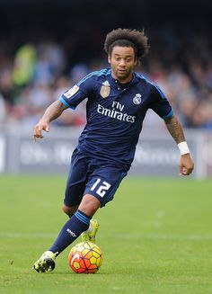 Marcelo Vieira Of Real Madrid Cf Runs With The Ball During