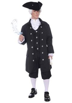 Wear this Adult Founding Father Costume and feel right at home in Independence Hall at the Continental Congress! Hear ye, hear ye... I declare you free from costume-lessness!