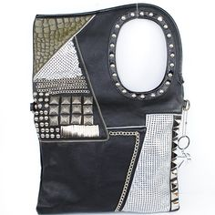 Amazon.com: Nicole Lee New Arrival Unique Shape Small Round and Square Rivet Studded Chain Embellishment Sequined Handbag Purse Hollywood Celebrity Stud Accents Handle Tote Handbag Purse with Adjustable Shoulder Strap in Black: Clothing $59.99