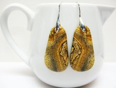 Golden Brown Earrings  Brown Jewelry  by AVeryCoolEarringShop