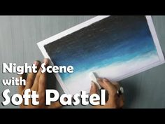 Beginners Drawing | How to Draw a night sky with Soft Pastel - YouTube