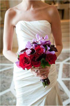 New York wedding, bride, bouquet