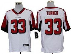Mens Atlanta Falcons Michael Turner Nike White Elite Jersey