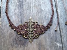 Micro macrame necklace elven jewelry by creationsmariposa on Etsy, $52.00