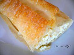 Las recetas de Aurora: Masa filo rellena de requesón