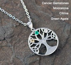 Fortune Tree - Sterling Silver Necklace for Cancer-3L Astro Jewelry