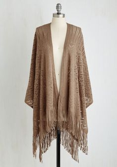 $35.00   -   Shawl My Love in Cocoa. Envelop yourself in the bohemian-chic beauty of this light brown shawl and revel in its ultra-soft coziness! #brown #modcloth