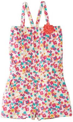 Kite Girl's Tulip Playsuit Floral Sleeveless Dress, Multicoloured, 5 Years