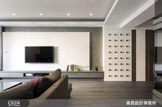 南邑設計事務所 現代風設計圖片南邑_09之4652-設計家 Searchome Living Room Wall Designs, Living Room Grey, Living Room Decor, Tv Console Design, False Ceiling Design, Luxury Living, Interior Design, Gypsum, Home Decor