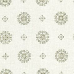 Brewster Wallpaper 302-66825 Vintage Green Floral Medallion