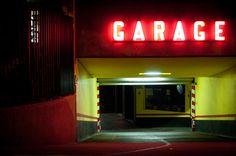 This reminds me of an entrance to a carnival ride #parking #garage (by maurosantoro.com)