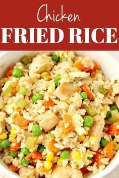 Chicken Fried Rice – quick and easy veggie and a chicken packed meal for the busy weeknights! Plus my favorite tip on saving time with easy rice prep!