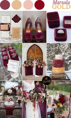 Marsala and gold wedding | sodazzling.com
