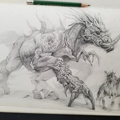 Here is a sketchbook pic of a piece I call Brotherhood. Teamwork can evolve from the unlikeliest of ways. In this case, a warrior befriends a dragon that was thought to be extinct. Together, they help eachother and have become blood brothers. Blood Brothers, Bobby, Moose Art, Wildlife, Character Design, Creatures, Sketches, Fantasy, Artwork