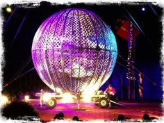 The Globe of Death! Circus Acts, Death, Speech Balloon