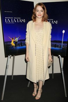 "Emma Stone - ""La La Land"" New York Screening - The Row"