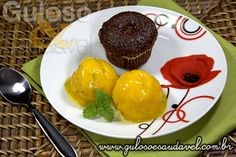 Aqui está uma sobremesa que nos vai encher de prazer!! O Sorbet de Manga Diet é além de delicioso também nutritivo!  #Receita aqui: http://www.gulosoesaudavel.com.br/2013/10/04/sorbet-manga-diet/
