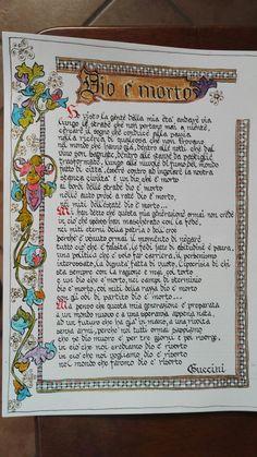 """""""Dio è morto"""" song by Francesco Guccini# Maria Clara's ink design"""
