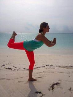 #WHEREDOYOUBAR? Instructor, Julia Gutierrez, strikes a pose on a beautiful beach in the Bahamas