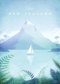New Zealand par Henry Rivers en Impression sur toile   Achetez en ligne sur JUNIQE ✓ Livraison fiable ✓ Découvrez de nouveaux designs sur JUNIQE !