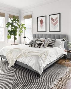 Home Interior Design Newton Charcoal/Ivory Area Rug - Magnolia Home by Joanna Gaines.Home Interior Design Newton Charcoal/Ivory Area Rug - Magnolia Home by Joanna Gaines Modern Master Bedroom, Master Bedroom Design, Minimalist Bedroom, Home Decor Bedroom, Master Suite, Bedroom Rugs, Bedroom Ideas Grey, Condo Bedroom, Ivory Bedroom