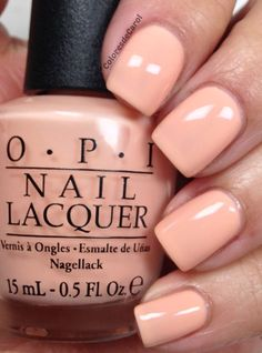 Opi Chillin Like A Villain Peach Colored Nails Nail