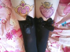 For some reason, looking at Sailor Moon tattoos makes me happy. Probably because Sailor Moon made me happy as a child, and looking at tattoos makes me happy now, haha. Future Tattoos, Love Tattoos, Beautiful Tattoos, Body Art Tattoos, Tatoos, Thigh Tattoos, Awesome Tattoos, Pretty Tattoos, Geek Tattoos