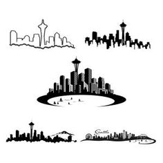 Seattle Skyline Washington Cuttable Design Cut File. Vector, Clipart, Digital Scrapbooking Download, Available in JPEG, PDF, EPS, DXF and SVG. Works with Cricut, Design Space, Sure Cuts A Lot, Make the Cut!, Inkscape, CorelDraw, Adobe Illustrator, Silhouette Cameo, Brother ScanNCut and other compatible software.