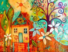 Inspiration the blog of Tracy Verdugo. Colorful Art, painting, pattern