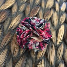 Add some character to your suit or any outfit of your choice with this pink plaid, pom pom flower lapel pin. @ThreadMePretty on Etsy. #ThreadMePretty #Handmade #Etsy #PerfectGift #Suit #Dapper #Lapel Pins #Boutonniere #Bow #Classy #Pin #Brooch #Wedding #Groomsmen #Blazer #Dressy #Tie #Flower
