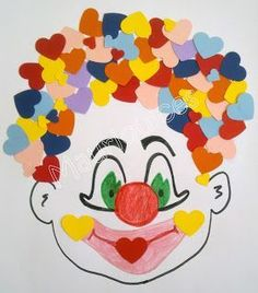 This page has a lot of free Clown craft idea for kids,parents and preschool teachers. Kids Crafts, Clown Crafts, Circus Crafts, Carnival Crafts, Diy And Crafts, Arts And Crafts, Paper Crafts, Theme Carnaval, Circus Theme