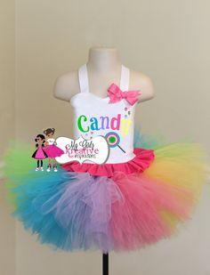 Lollipop Candy Land Cutie  Rainbow Tutu by MyGirlzInspirations, $64.00