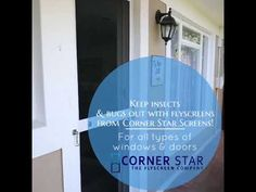 Insect Screens manufactured by Corner Star are available for all types of windows and doors in a range of colours. Get a free quote today! Windows And Doors, Screens, Corner, Range, Quote, Colours, Stars, Free, Canvases