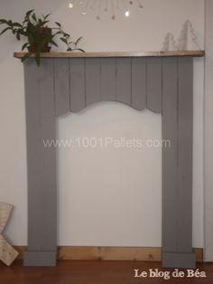 Decorative fireplace from pallet wood / Fausse cheminée en bois de palette | 1001 Pallets