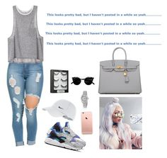 """""""READ D"""" by jadasmith1 ❤ liked on Polyvore featuring NIKE, Hermès, Rolex and Sephora Collection"""
