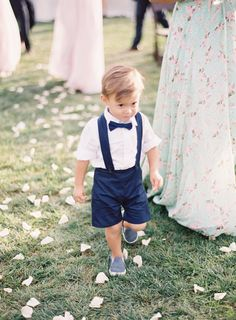 Adorable ring bearer getup: http://www.stylemepretty.com/2016/06/15/a-wedding-thats-pink-mint-and-pretty-all-over/ | Photography: Sposto Photography - http://spostophotography.com/