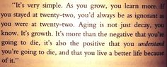 """Love this """"Tuesdays With Morrie"""" quote!"""