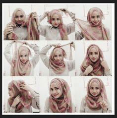 How to wear hijab tutorials round faces 51 ideas Hijabi Girl, Girl Hijab, Hijab Outfit, Hijab Bride, Wedding Hijab, Wedding Dresses, Square Hijab Tutorial, Hijab Style Tutorial, Turban Hijab