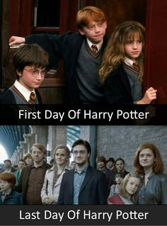 First day of harry potter last day of harry potter.